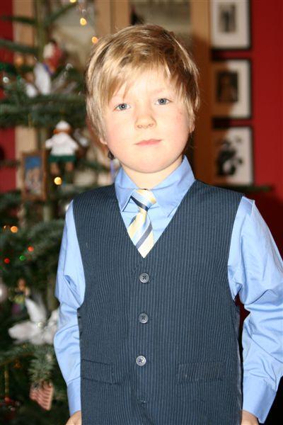 Vakre William i nye juleklær